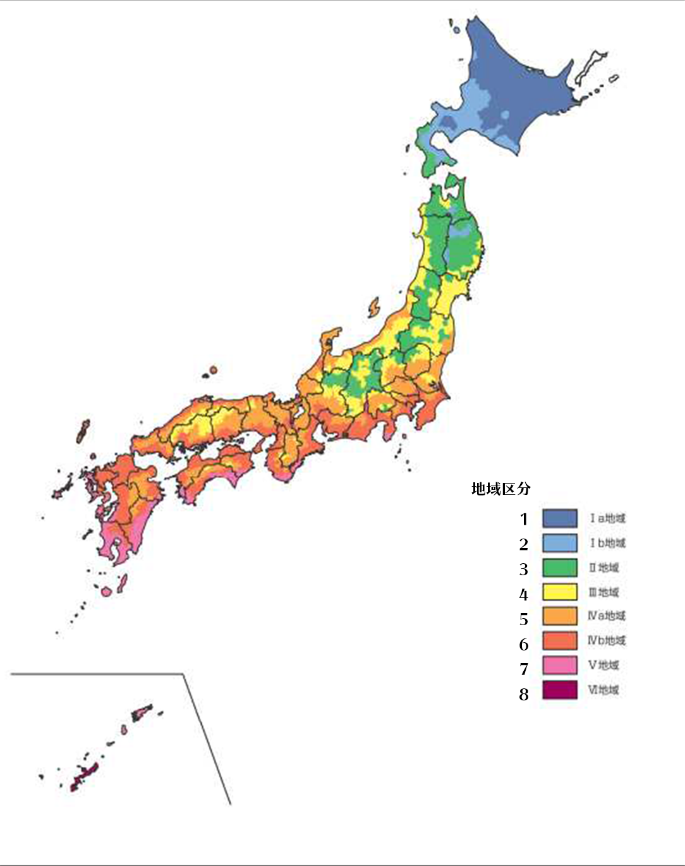 省エネルギー地域区分